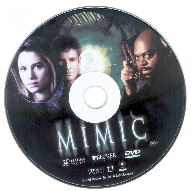 dvd cover Mimic 1997 Disc Label Dvd Cover
