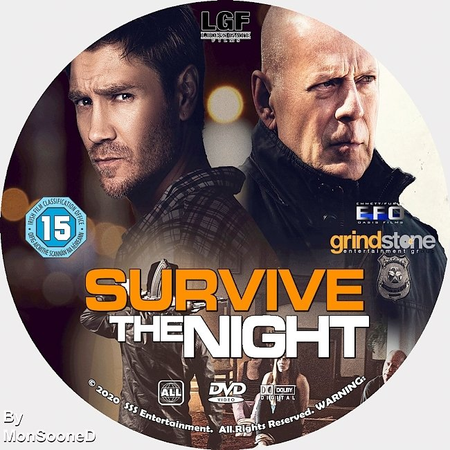 dvd cover Survive The Night 2020 Dvd Disc Dvd Cover
