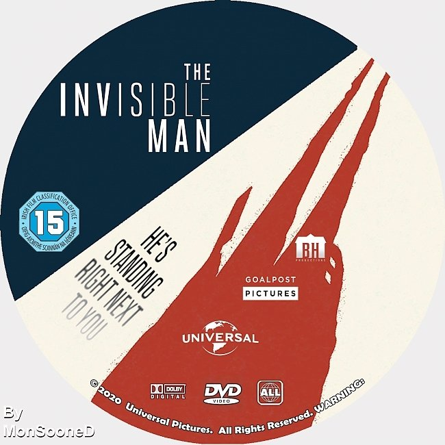 dvd cover The Invisible Man 2020 Dvd Disc Dvd Cover