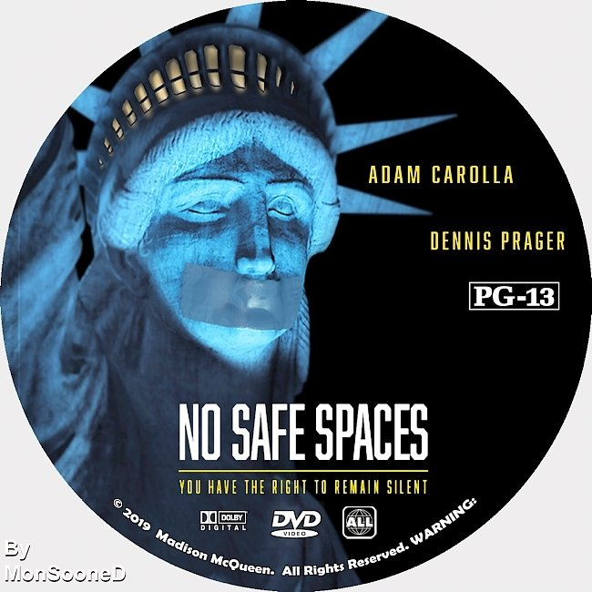 dvd cover No Safe Spaces 2019 Dvd Disc Dvd Cover