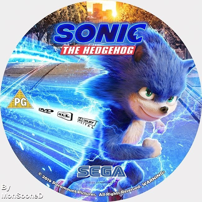 dvd cover Sonic The Hedgehog 2020 Dvd Disc Dvd Cover