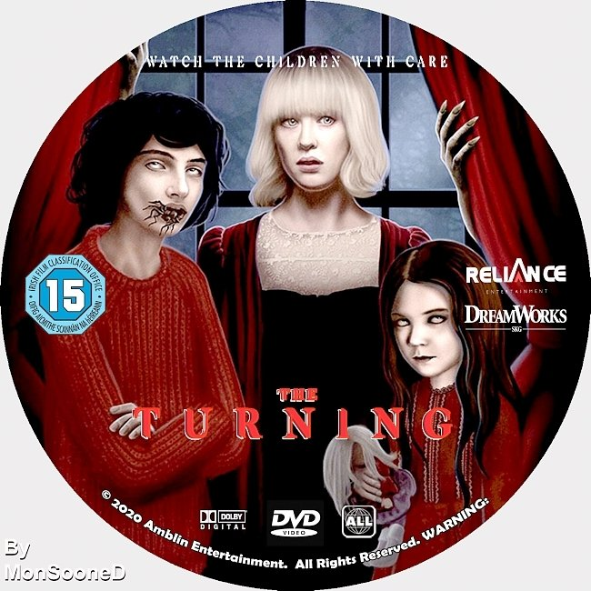 dvd cover The Turning 2020 Dvd Disc Dvd Cover
