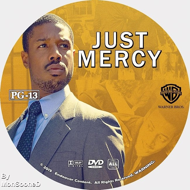 dvd cover Just Mercy 2019 Dvd Disc Dvd Cover