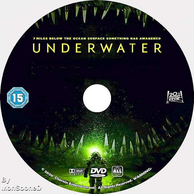 dvd cover Underwater 2020 Dvd Disc Dvd Cover
