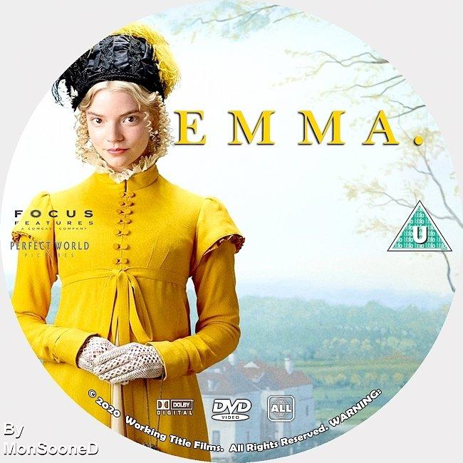 dvd cover Emma 2020 Dvd Disc Dvd Cover