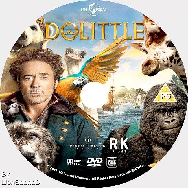 dvd cover Dolittle 2020 Dvd Disc Dvd Cover