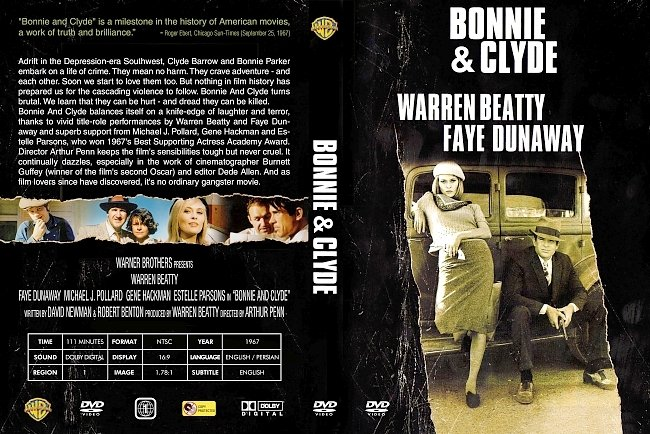 dvd cover Bonnie And Clyde 1967 Dvd Cover