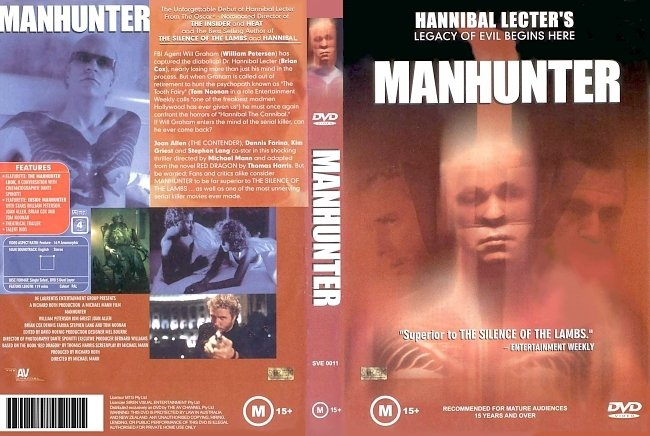 dvd cover Manhunter 1986 Dvd Cover