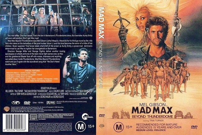 dvd cover Mad Max Beyond Thunderdome 1985 Dvd Cover