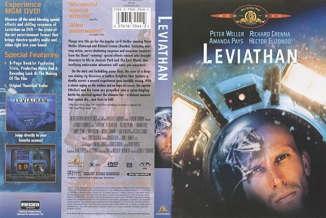 dvd cover Leviathan 1989 Dvd Cover