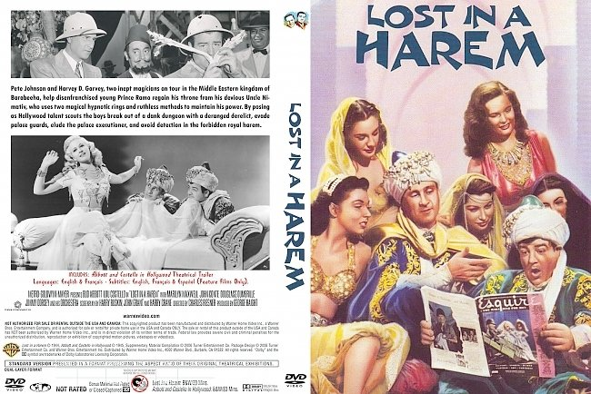dvd cover Lost In A Harem 1944 Dvd Cover