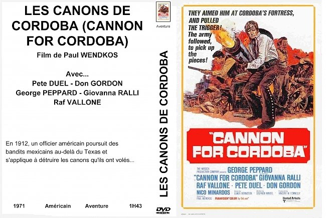 dvd cover Cannon For Cordoba 1971 Dvd Cover