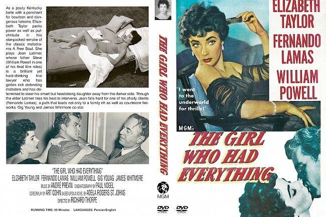 dvd cover Girl Who Had Everything, The 1953 Dvd Cover