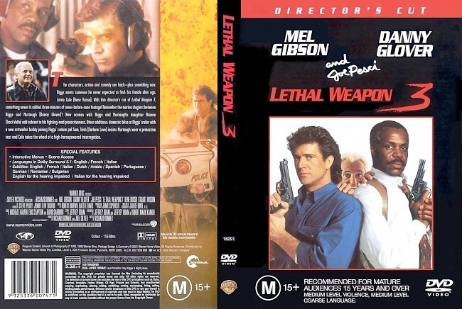 dvd cover Lethal Weapon 3 - Directors Cut 1992 Dvd Cover