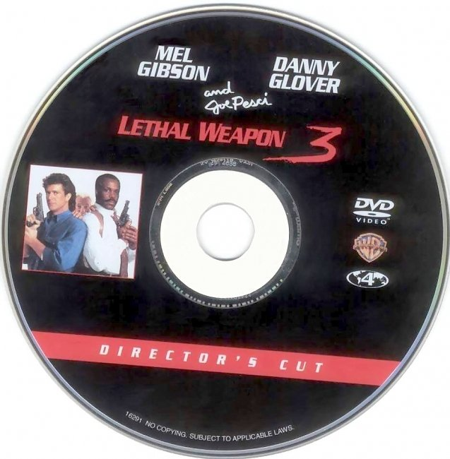dvd cover Lethal Weapon 3 - Directors Cut 1992 Disc Label Dvd Cover