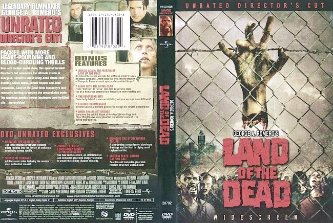 dvd cover Land Of The Dead - Directors Cut 2005 Dvd Cover