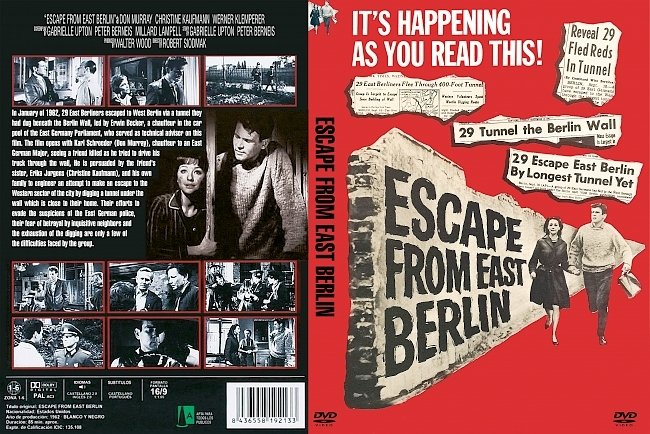 dvd cover Escape From East Berlin 1962 Dvd Cover