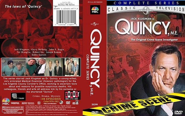 dvd cover Quincy,Me Complete Series 1976-1983 Dvd Cover