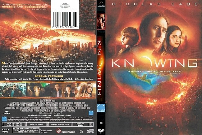 dvd cover Knowing 2009 Dvd Cover