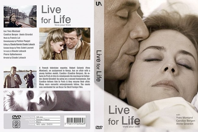 dvd cover Vivre Pour Vivre 1967 Dvd Cover