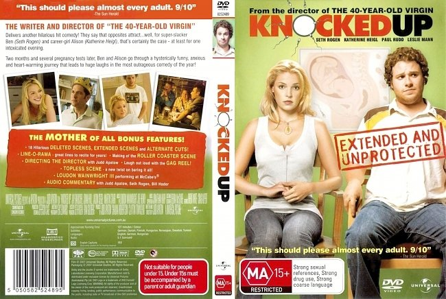 dvd cover Knocked Up - Extended Cut 2007 Dvd Cover