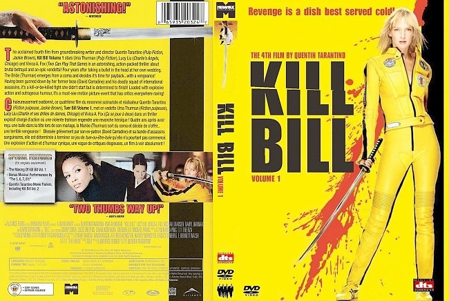 dvd cover Kill Bill - Volume 1 2003 Dvd Cover