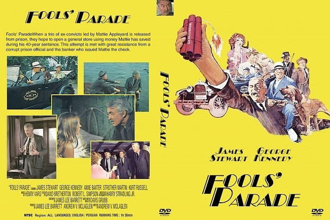 dvd cover Fools' Parade 1971 Dvd Cover