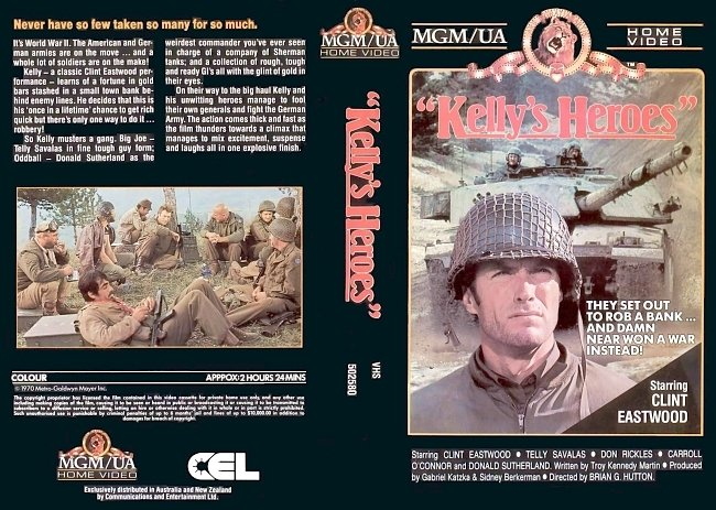 dvd cover Kelly's Heroes 1970 Dvd Cover