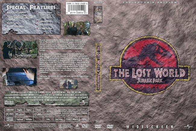 dvd cover Jurassic Park The Lost World - Collectors Edition 1997 Dvd Cover