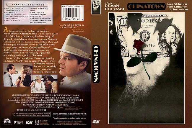 dvd cover Chinatown 1974 Dvd Cover