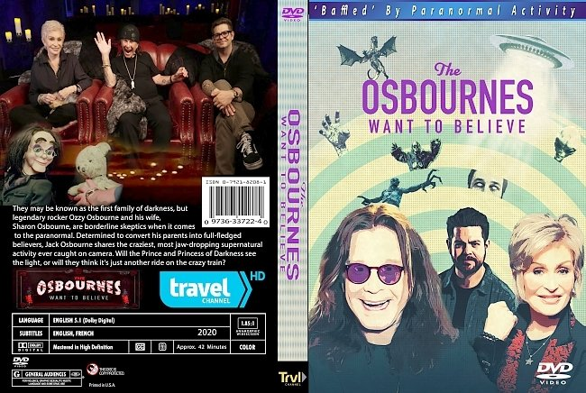dvd cover The Osbournes Want To Believe 2020 Dvd Cover