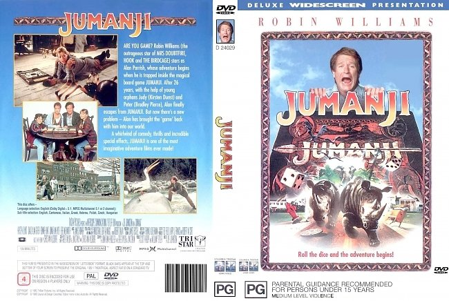 dvd cover Jumanji 1995 Dvd Cover