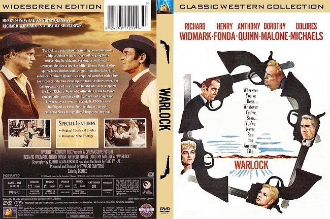 dvd cover Warlock 1959 Dvd Cover