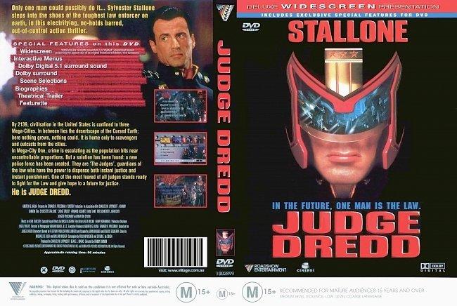 dvd cover Judge Dredd 1995 Dvd Cover