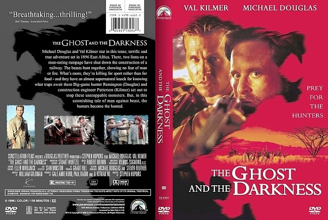 dvd cover The Ghost And The Darkness 1996 Dvd Cover