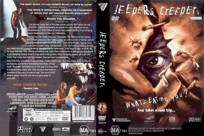 dvd cover Jeepers Creepers 2001 Dvd Cover