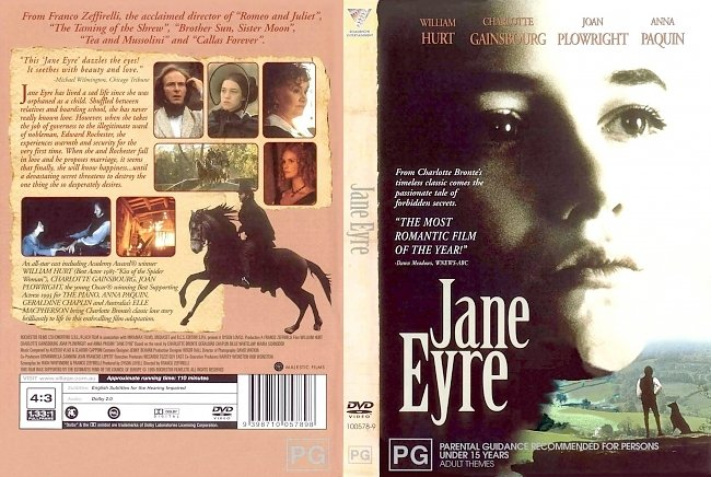 dvd cover Jane Eyre 1996 Dvd Cover