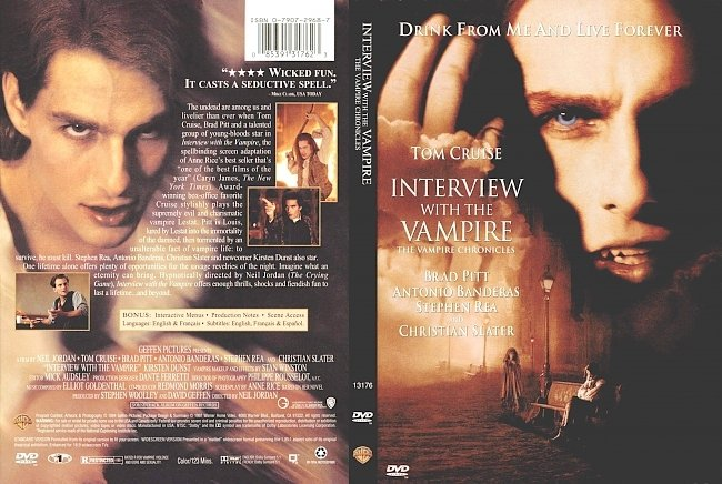dvd cover Interview With The Vampire 1994 Dvd Cover