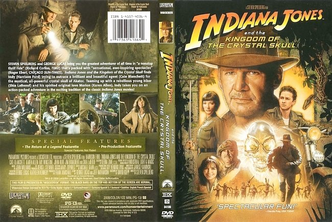 dvd cover Indiana Jones And The Kingdom Of The Crystal Skull 2008 Dvd Cover