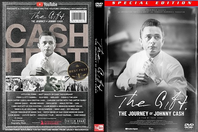 dvd cover The Gift: The Journey Of Johnny Cash 2019 Dvd Cover