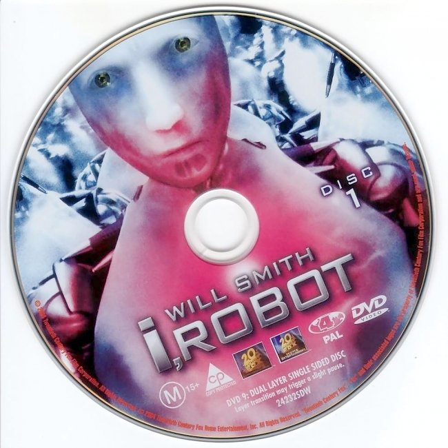 dvd cover I Robot 2004 Disc Label Dvd Cover