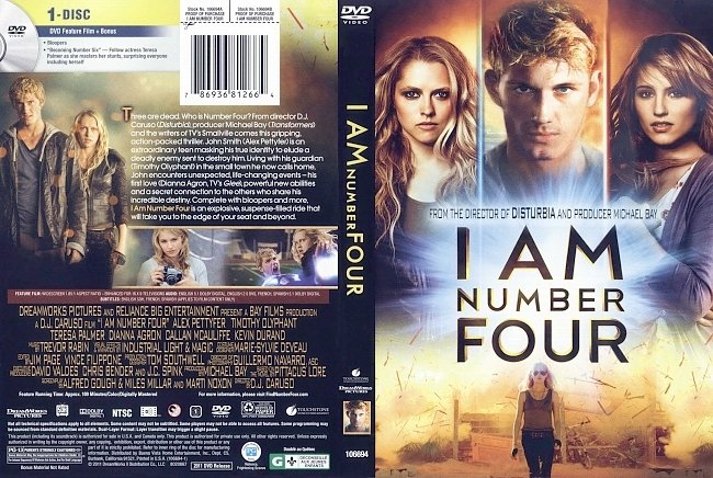 dvd cover I Am Number Four 2011 Dvd Cover