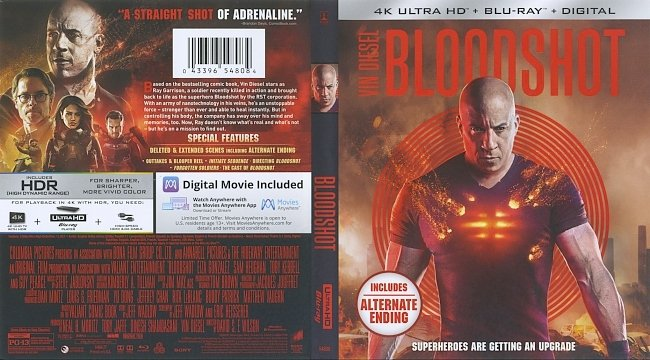 dvd cover Bloodshot 2020 Dvd Cover