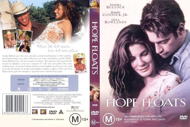 dvd cover Hope Floats 1998 Dvd Cover