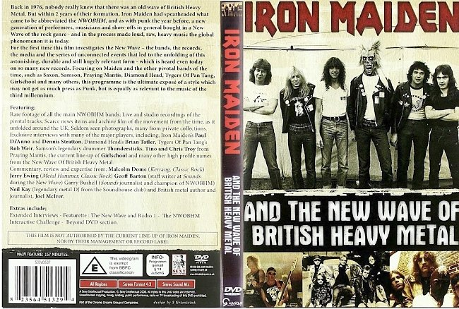 dvd cover Iron Maiden - And The New Wave Of British Heavy Metal 2008 Dvd Cover