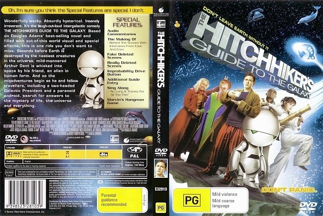 dvd cover The Hitchhikers Guide To The Galaxy 2005 Dvd Cover