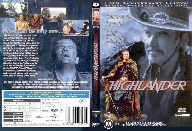 dvd cover Highlander 1986 Dvd Cover