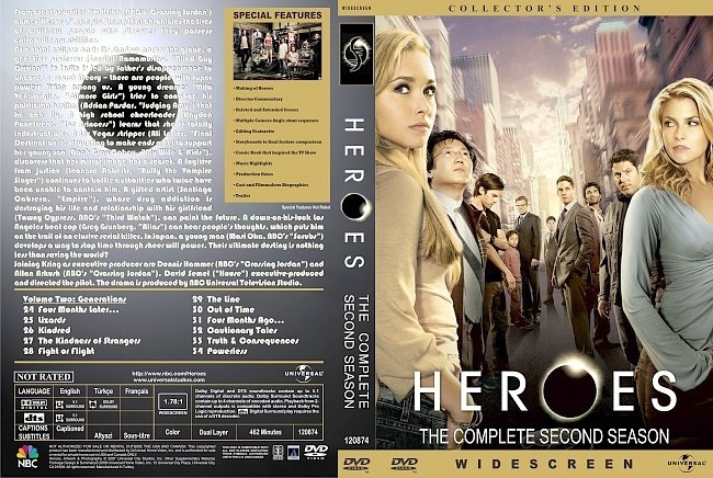 dvd cover Heroes - Season 2 2008 R1 Inlay Dvd Cover