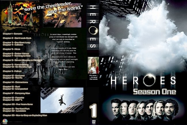 dvd cover Heroes - Season 1 2007 R1 Inlay Dvd Cover
