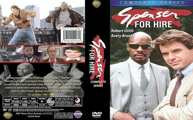 dvd cover Spenser: For Hire Complete Series 1985-88. Dvd Cover